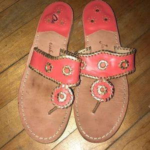 Jack Rogers Sandals pink with gold